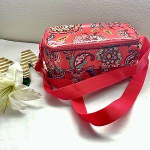 Vera Bradley Pink Paisley Patterned Lunchbox